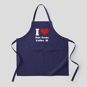 I Heart Fair Trade Coffee Apron (dark)
