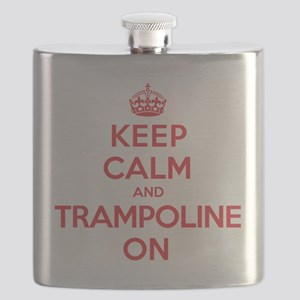 Keep Calm Trampoline Flask