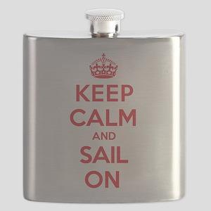 Keep Calm Sail Flask