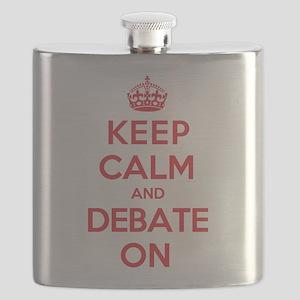 Keep Calm Debate Flask
