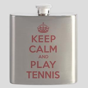 Keep Calm Play Tennis Flask