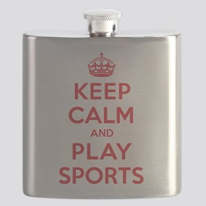 Keep Calm Play Sports Flask