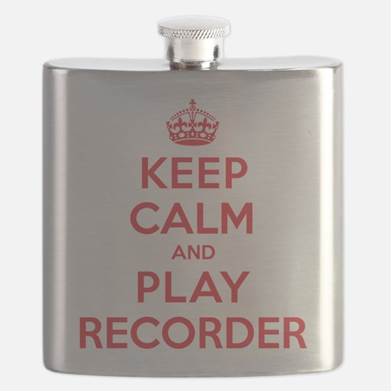 Keep Calm Play Recorder Flask