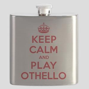 Keep Calm Play Othello Flask