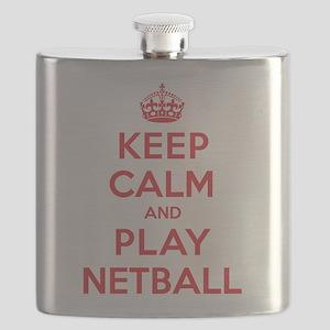 Keep Calm Play Netball Flask