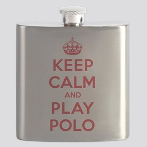 Keep Calm Play Polo Flask