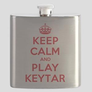 Keep Calm Play Keytar Flask