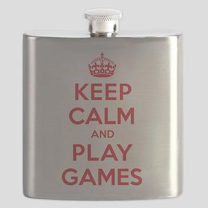 Keep Calm Play Games Flask