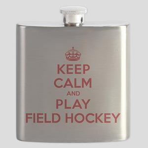 Keep Calm Play Field Hockey Flask
