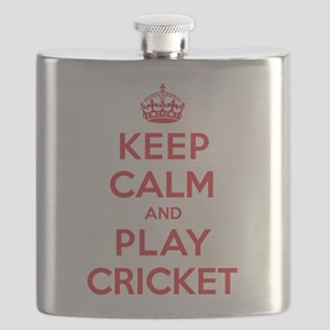 Keep Calm Play Cricket Flask