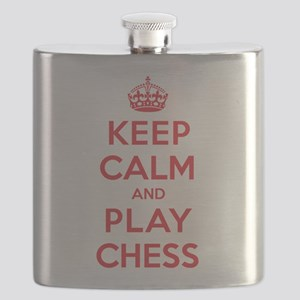 Keep Calm Play Chess Flask