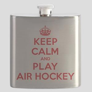 Keep Calm Play Air Hockey Flask
