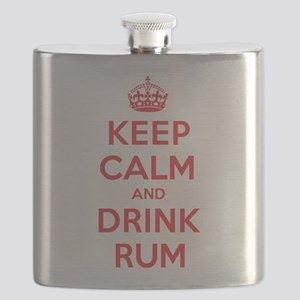 K C Drink Rum Flask