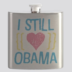 Girly Still Heart License Plate Flask