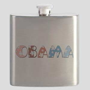 Star Patterned Obama dark transparent Flask