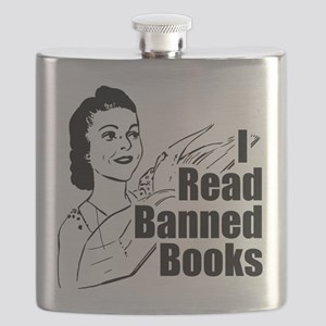 I Read Banned Books Transparent Flask