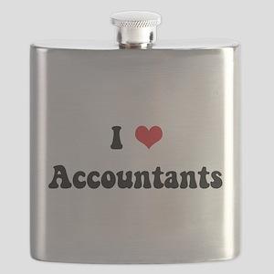 I Heart Accountants light transparent Flask