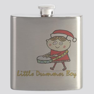 Little Drummer Boy light transparent Flask