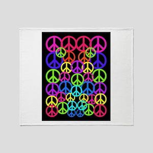 Peace Symbol FF Throw Blanket