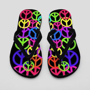 Peace Symbol FF Flip Flops