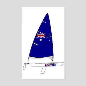 Australia Sailing Sticker (Rectangle)