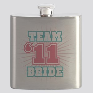 2011 Red Turquoise Emblem Star Bride Flask