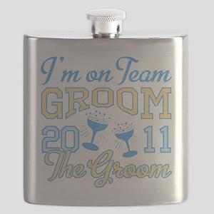 Champagne 2011 Groom Flask