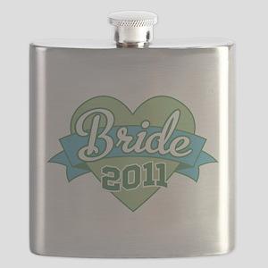 Bride Heart Banner 2011 ornament Flask