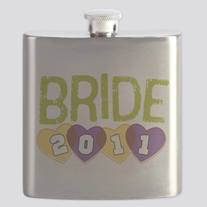 Bride 2011 Vintage Sporty Purple Yellow ornament F