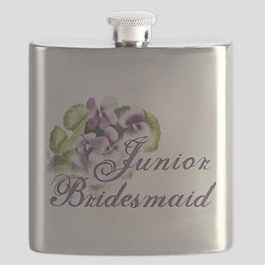 jr bridesmaid panzy Flask