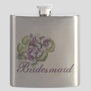 bridesmaid panzy Flask
