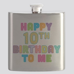 Happy 10th Birthday To Me Flask