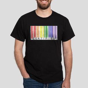 Certified Rainbow Bar Code Dark T-Shirt