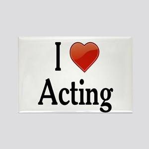 I Love Acting Rectangle Magnet