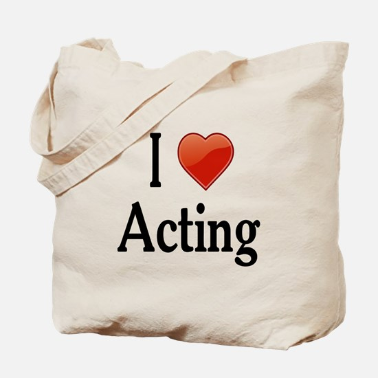 I Love Acting Tote Bag