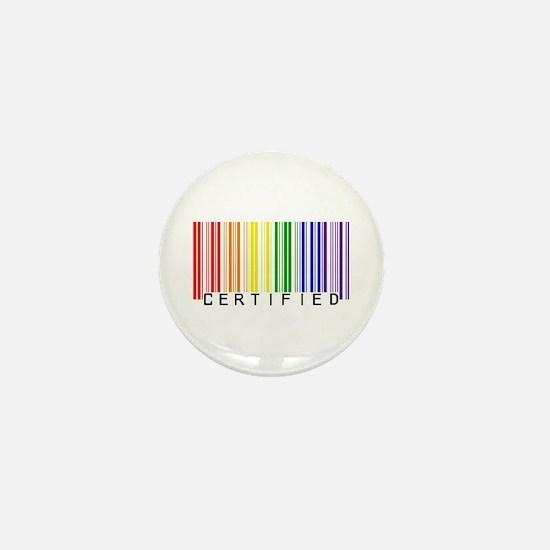 Certified Rainbow Bar Code Mini Button