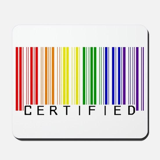 Certified Rainbow Bar Code Mousepad