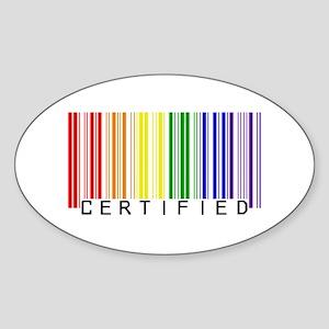 Certified Rainbow Bar Code Sticker (Oval)