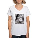 Yuri Gagarin Women's V-Neck T-Shirt