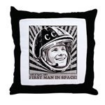 Yuri Gagarin Throw Pillow