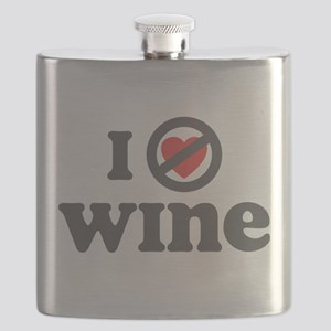 I Dont Heart wine Flask