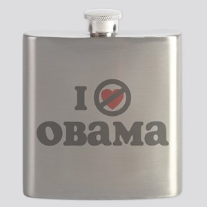 I Dont Heart obama Flask