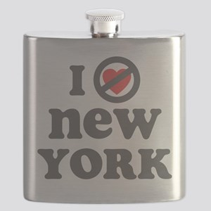 I Dont Heart New York Flask