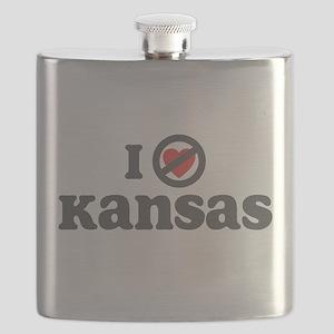 I Dont Heart Kansas Flask
