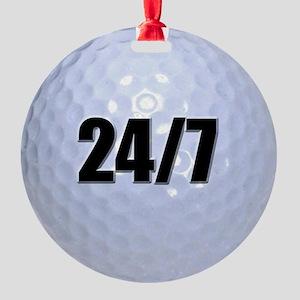 24/7 Golf Round Ornament