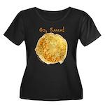 Vo, Blin! Women's Plus Size Scoop Neck Dark T-Shir