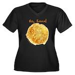 Vo, Blin! Women's Plus Size V-Neck Dark T-Shirt