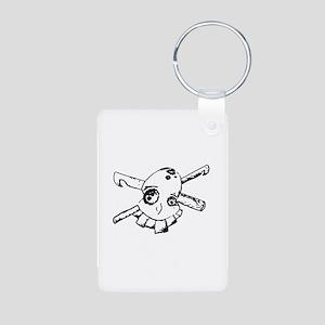 Hook Pirate Aluminum Photo Keychain