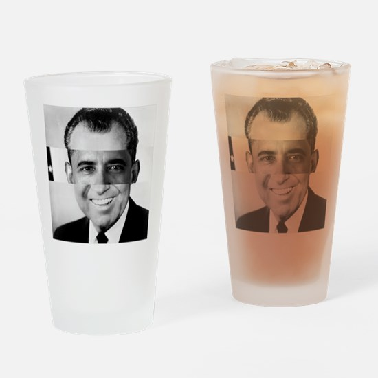 I am Not a Crook! Nixon Obama Drinking Glass