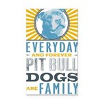 Pit Bull Dogs are Family Rectangle Car Magnet